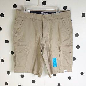 🔥30%OFF🔥🆕Sonoma tan cargo shorts flex wear 33